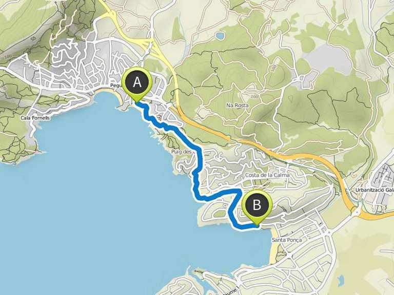 Mallorca Karte Paguera.Paguera Nach Santa Ponsa Wanderung Komoot