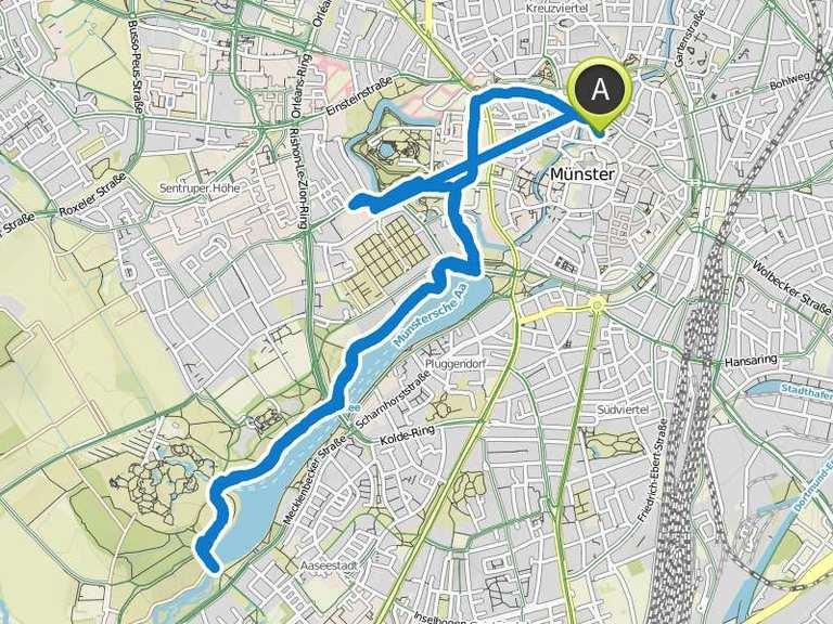 Running Track to Aasee-Brücke, Aasee Münster | Laufstrecke ...