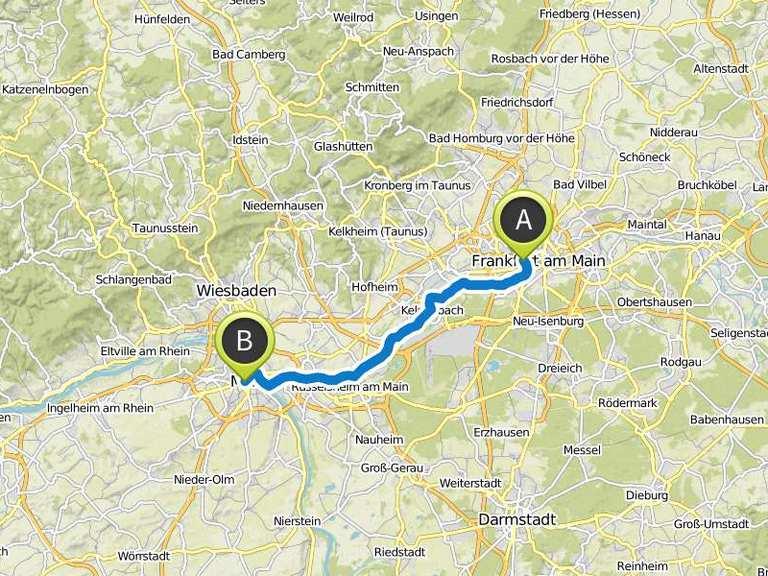 Fahrradtour Radweg R3 Frankfurt Nach Mainz Fahrradtour Komoot