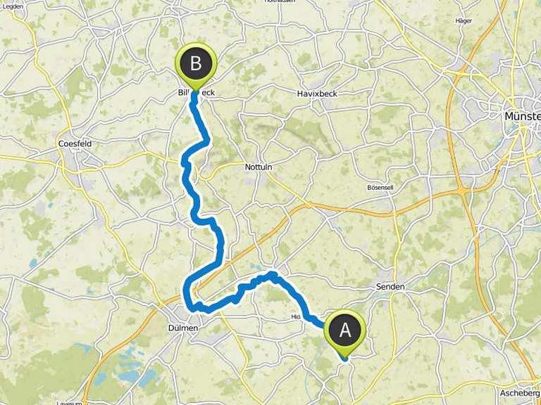 Fahrradtour nach Billerbeck | bike Tour | Komoot