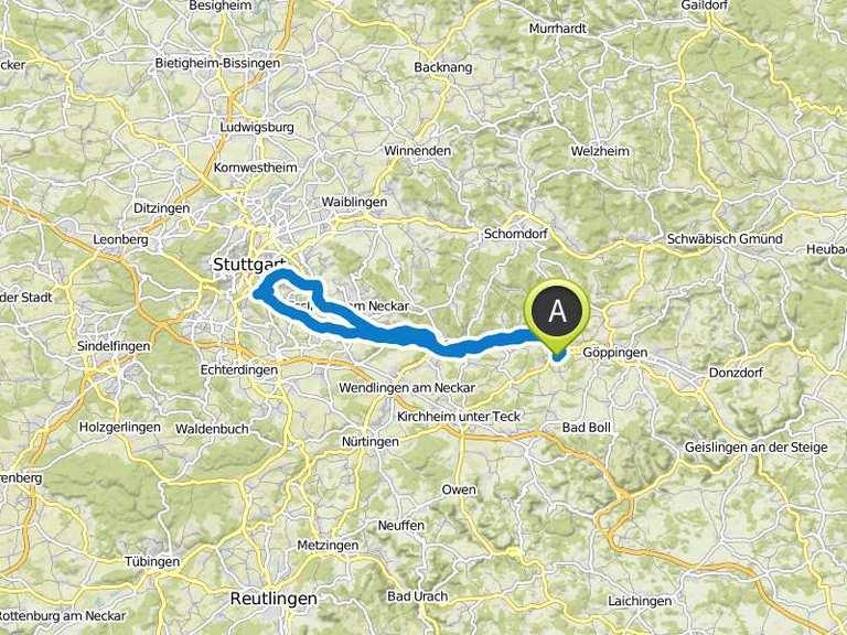 Neckarradweg Karte.Fernsehturm Stuttgart Neckarradweg Fahrradtour Komoot