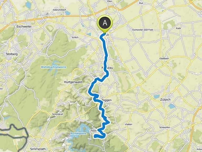 Rurufer Radweg Duren Heimbach Fahrradtour Komoot
