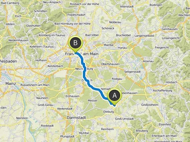 Fahrradtour nach frankfurter schule f r bekleidung und for Mode bekleidung schule frankfurt