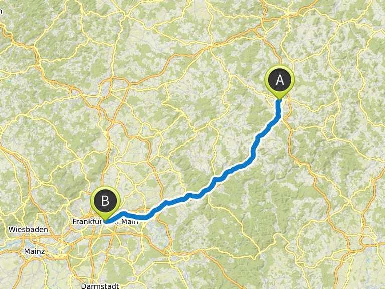 Von Fulda Nach Frankfurt Am Main Fahrradtour Komoot