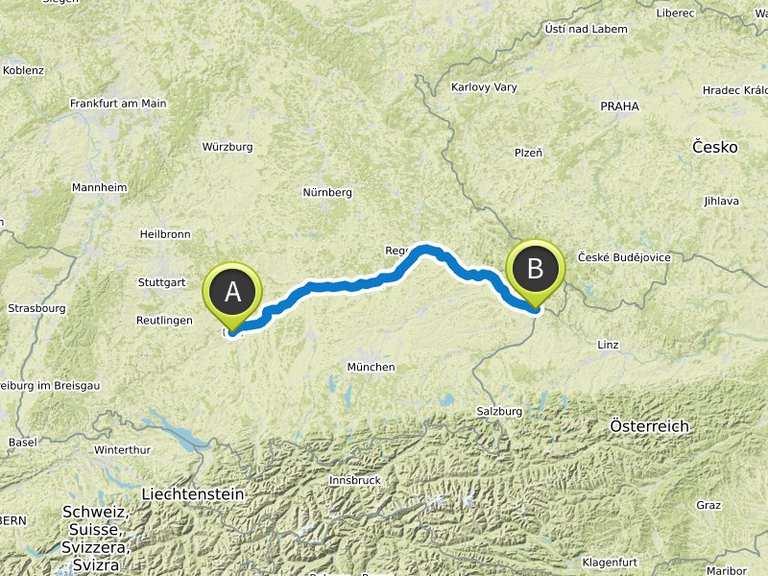 Donauradweg Ulm Passau Karte.Donauradweg Von Ulm Nach Passau Fahrradtour Komoot